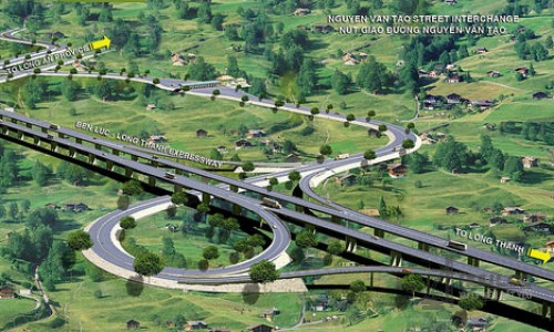 Triển khai thi công dự án Cao tốc Bến Lức Long Thành huyện Nhà Bè